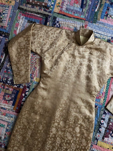 RARE vintage 1940s padded Cheongsam dress