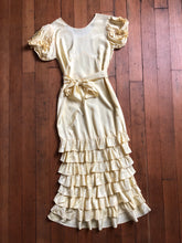 Load image into Gallery viewer, vintage 1930s yellow NRA gown