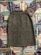 Load image into Gallery viewer, vintage 1950s black flecked wool skirt