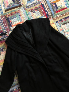 vintage 1950s black wool coat