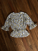 Load image into Gallery viewer, NOS vintage 1960s blouse YELLOW