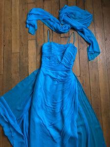 vintage 1960s Emma Domb chiffon gown