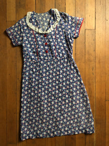 vintage 1930s depression era cotton dress