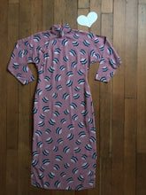 Load image into Gallery viewer, vintage 1940s novelty print Cheongsam dress