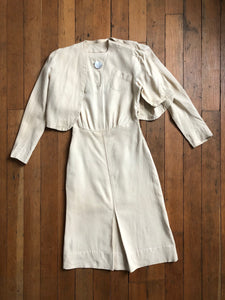 vintage 1930s dress and jacket set
