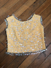Load image into Gallery viewer, vintage 1960s beaded top
