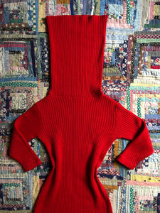vintage 1950s Susan Small red knit dress