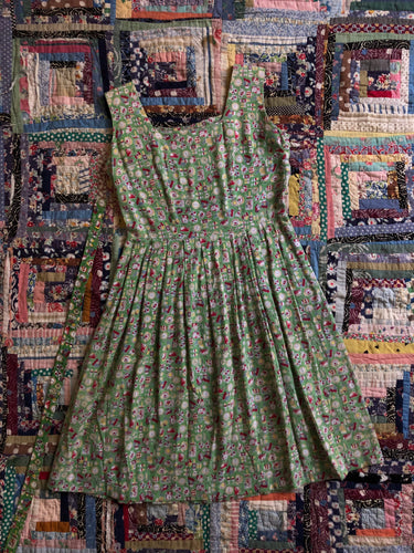 CLEARANCE vintage 1950s novelty kitchen dress