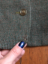 Load image into Gallery viewer, vintage 1950s green wool blazer