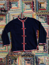 Load image into Gallery viewer, vintage 1960s navy cardigan sweater