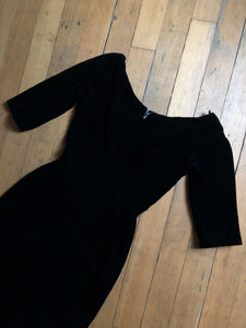 vintage 1950s Suzy Perette black velvet dress