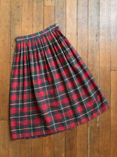 Load image into Gallery viewer, vintage 1950s plaid skirt