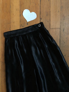 vintage 1930s black satin pants