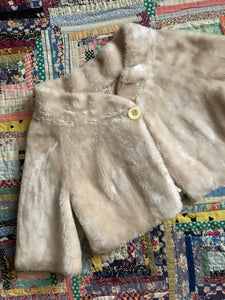 vintage 1960s cropped faux fur jacket