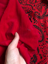 Load image into Gallery viewer, vintage 1950s red velvet top