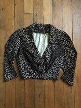 Load image into Gallery viewer, vintage 1950s leopard top