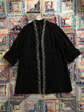 Load image into Gallery viewer, vintage 1950s black swing coat