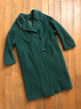Load image into Gallery viewer, vintage 1950s green coat