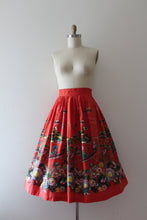 Load image into Gallery viewer, RARE vintage 1950s Japanese inspired scene border print skirt