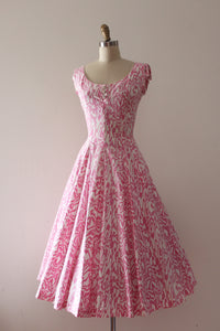 vintage 1950s Jerry Gilden pink cotton dress
