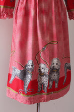 Load image into Gallery viewer, vintage 1960s novelty print John Wolf dog dress