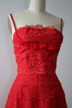Load image into Gallery viewer, vintage 1950s lace wiggle dress