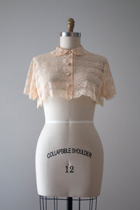 vintage 1950s lace crop top
