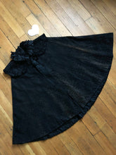 Load image into Gallery viewer, Victorian 1890s black Leaf cape