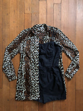 Load image into Gallery viewer, vintage 1960s Cole of California Leopard cover up