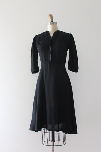 SALE vintage 1930s black dress