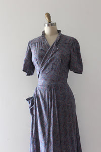 vintage 1930s dressing gown