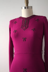 vintage 1940s beaded blouse