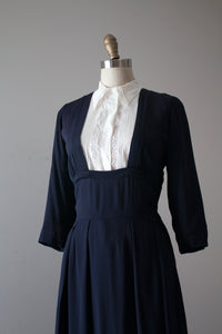 vintage 1940s low cut rayon dress