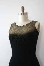 Load image into Gallery viewer, vintage 1950s beaded knit dress