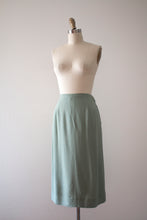 Load image into Gallery viewer, vintage 1950s mint green jacket and skirt set