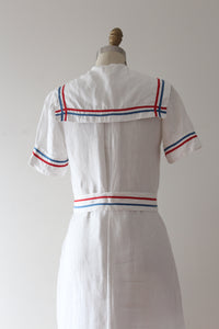 vintage 1930s nautical linen dress