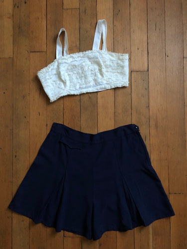 vintage 1940s navy blue shorts 34 waist