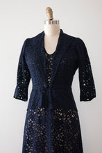 Load image into Gallery viewer, vintage 1930s lace dress and jacket set