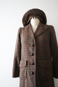 vintage 1940s wool coat with hat