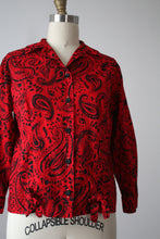 Load image into Gallery viewer, vintage 1950s paisley blouse