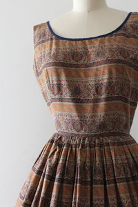 vintage 1950s Jerry Gilden novelty Persian Rug print dress