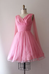 vintage 1960s pink party dress