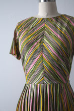 Load image into Gallery viewer, vintage 1960s colorful nylon jersey dress