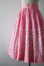 Load image into Gallery viewer, vintage 1950s pink mirror skirt