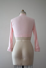 Load image into Gallery viewer, vintage 1950s pink bolero sweater