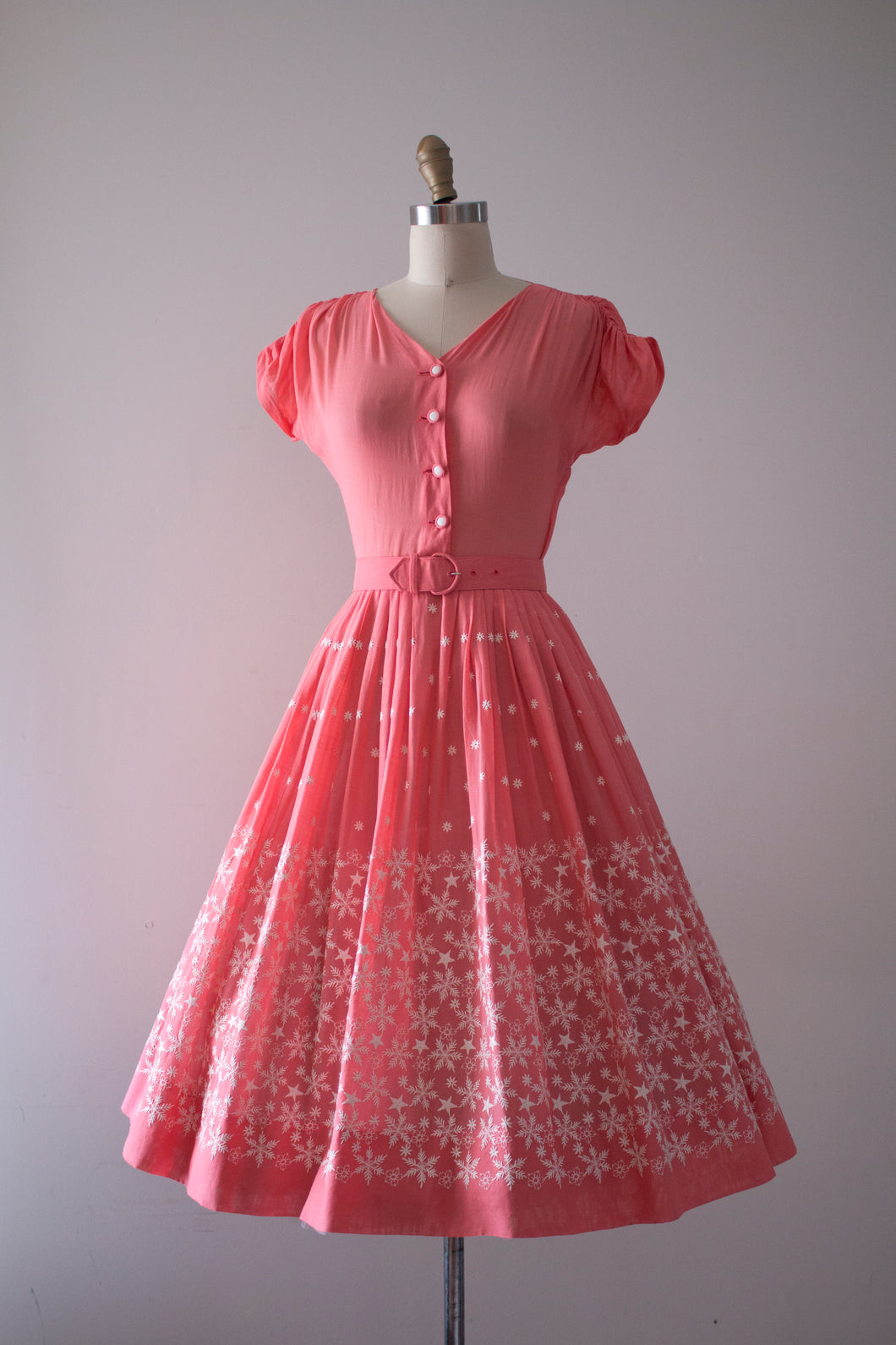 vintage 1950s Doris Dodson Summer Snowflake dress