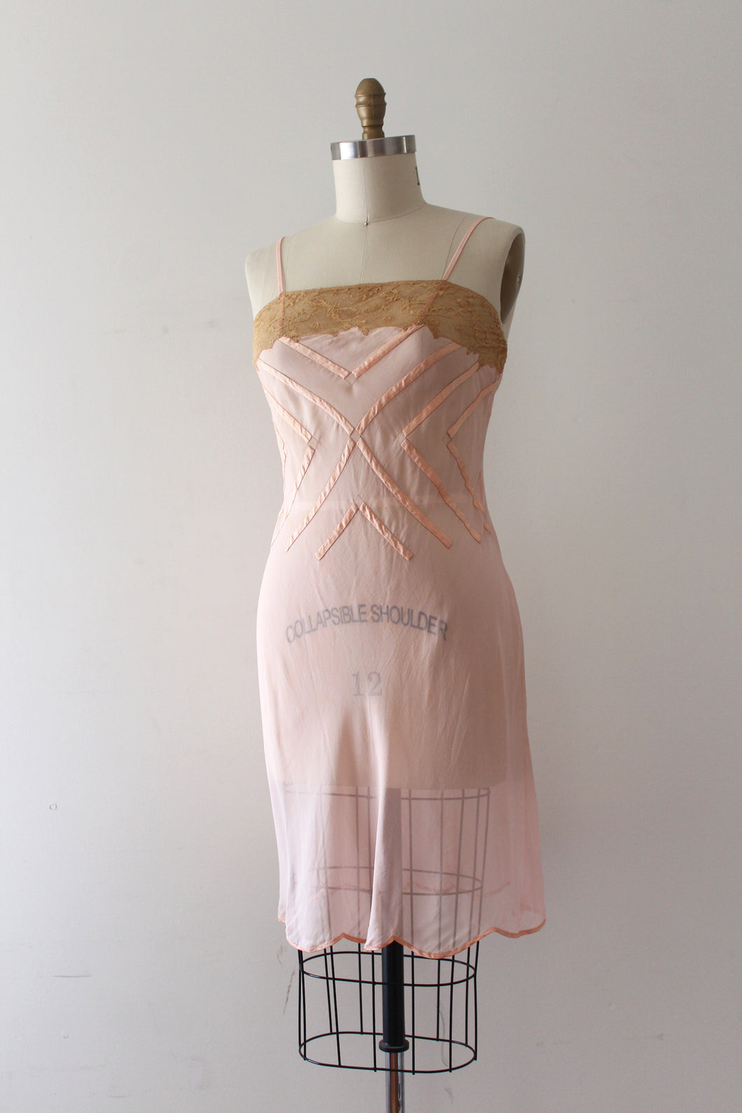 MARKED DOWN vintage 1920s pink slip