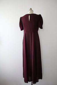 vintage 1930s purple dress
