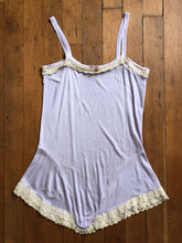Load image into Gallery viewer, vintage 1920s teddy // 1930s purple rayon jersey lingerie
