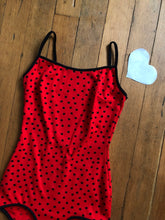 Load image into Gallery viewer, vintage 1960s red polka dot swimsuit